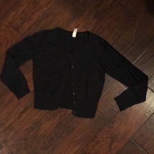Cherokee black cardigan sweater
